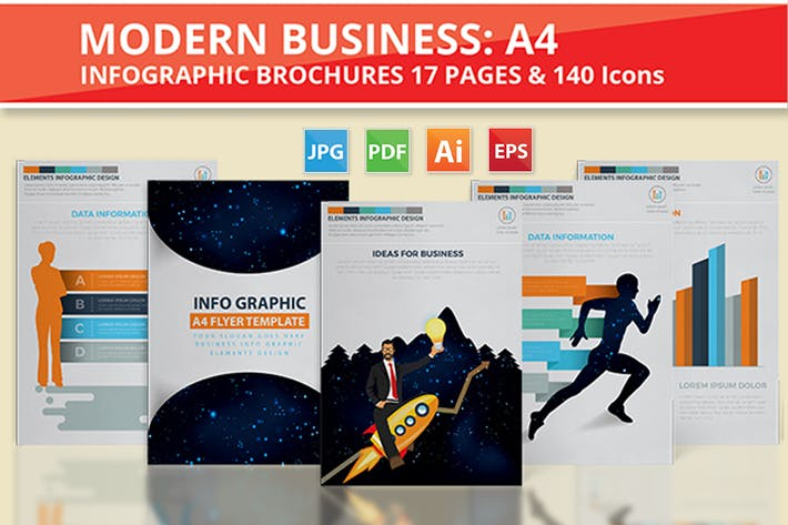 Thumbnail for Modern Business Infographics Design