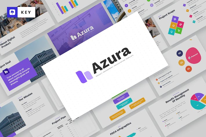 AZURA - Project Management Keynote Template