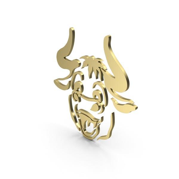 Cartoony Bull Gold
