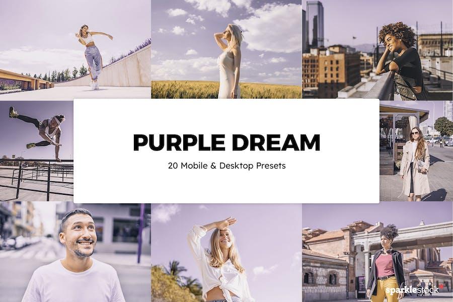 20 Purple Dream Lightroom Presets & LUTs