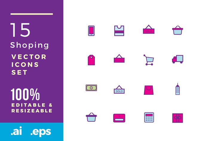 Thumbnail for 15 shopping vector icon