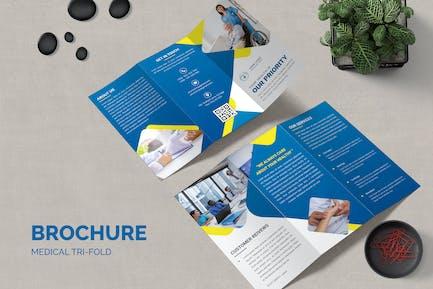 Medicine Trifold Brochure Template