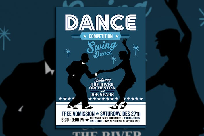 Thumbnail for Swing Dance Competition Poster Flyer