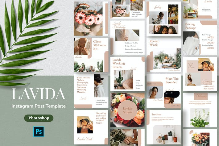 Lavida - Minimalism Instagram Post Template