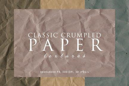 Texturas clásicas de papel arrugado