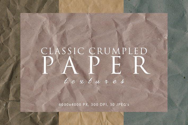 Klassische zerknitterte Papiertexturen