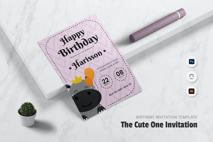 Thumbnail for Invitation pour un anniversaire