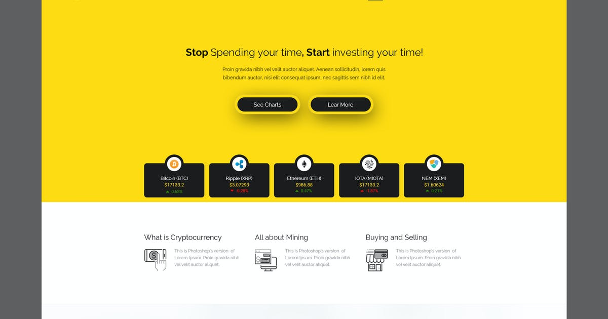 Download Cryptox - Cryptocurrency PSD Template by PremiumLayers