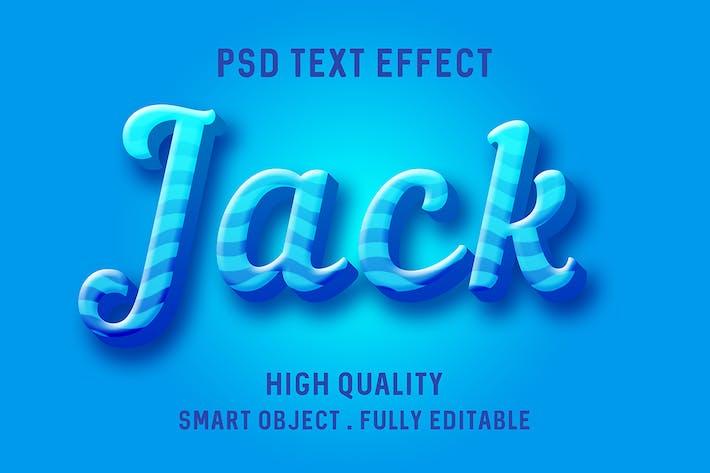 Текстовый эффект синих линий