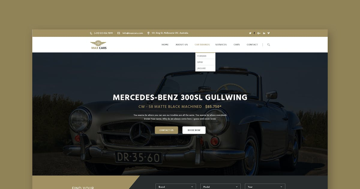Old Timers PSD Template by Unknow