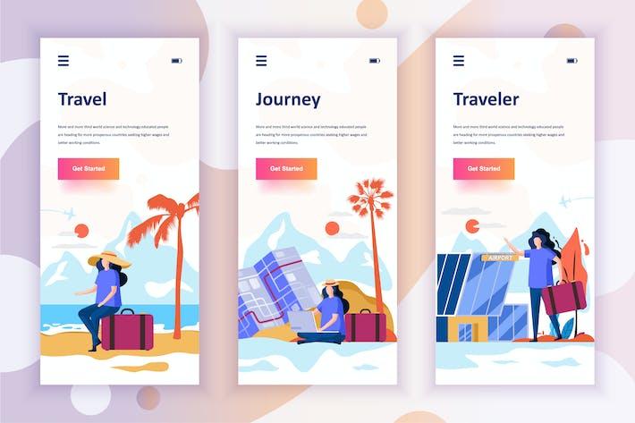 Thumbnail for Instagram Stories Onboarding Screens Mobile App