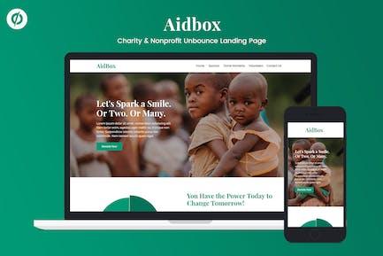 Aidbox — благотворительные и некоммерческие некоммерческие неотказов целевой страницы
