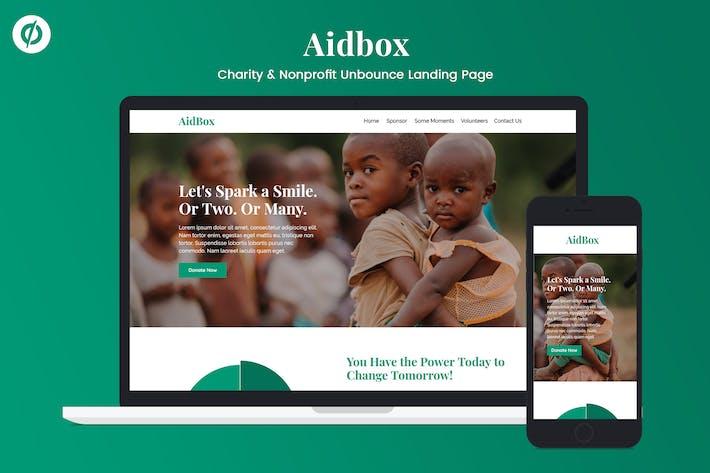 Cover Image For Aidbox — Página de inicio para organizaciones benéficas y Unbounce ánimo de lucro