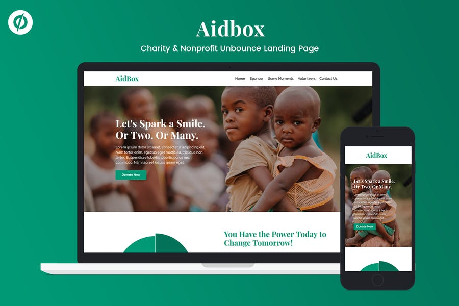 Aidbox — Charity & Nonprofit Unbounce Landing Page
