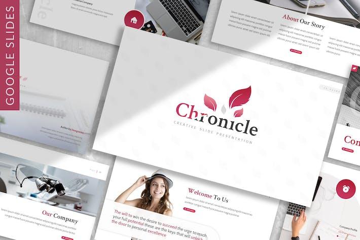 Thumbnail for Chronicle - Plantilla de diapositivas de Google para empresas
