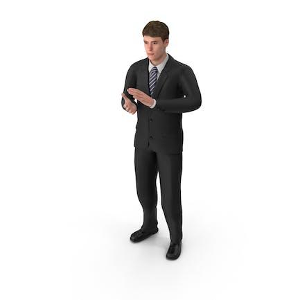 Hombre de negocios John aplaudiendo