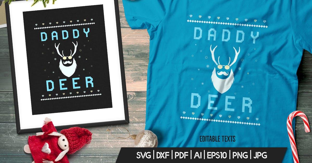 Download Vintage Ugly Christmas Print TShirt Design, Deer by JeksonJS