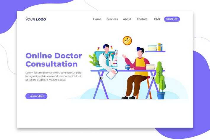 Thumbnail for Online Doctor Consultation - Landing Page
