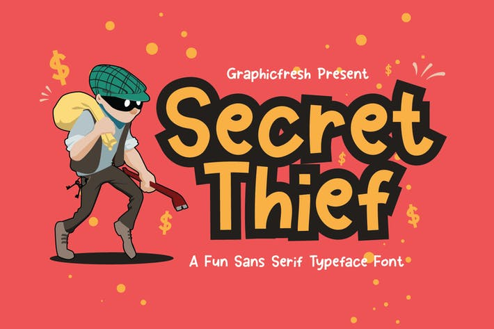 Thumbnail for Secret Thief - A Cute Sans Font
