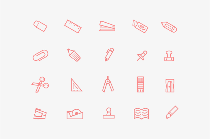 Thumbnail for 20 Stationary Icons