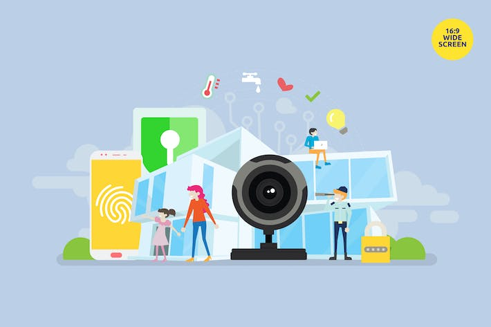 Thumbnail for Smart Home Technology Vector Concept 3
