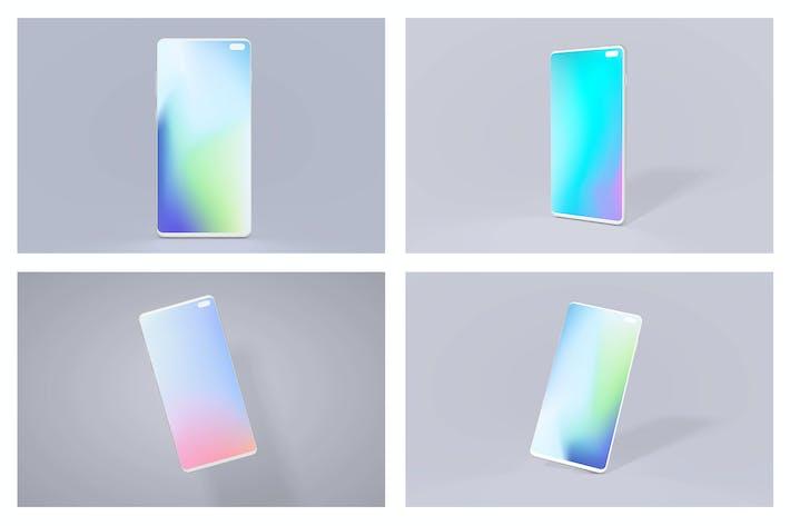 Thumbnail for Samsung S10 Android Mockup Bundle