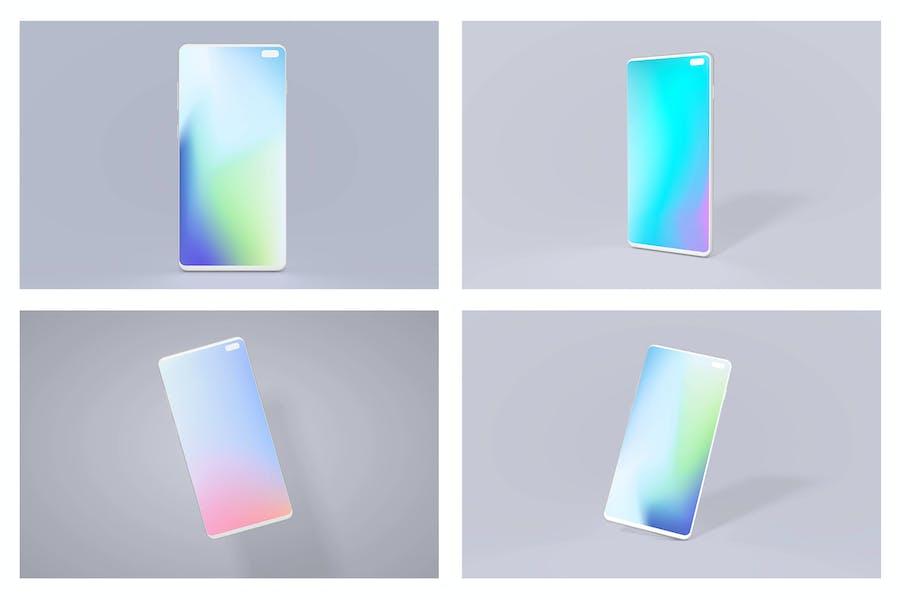Samsung S10 Android Mockup Bundle