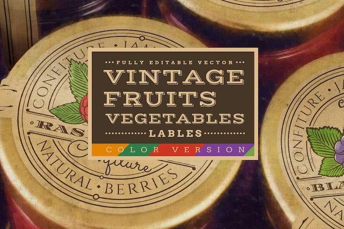 Thumbnail for Vintage Fruits & Vegetables Labels