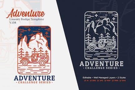 Adventure Monoline Logo Badge Template V.08