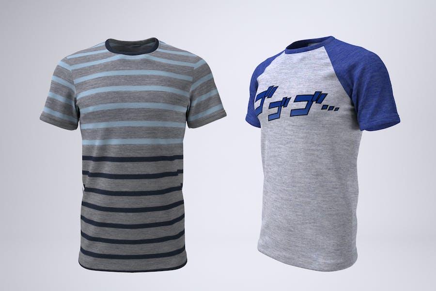 T-Shirt With Short or Raglan Sleeves Mock-Up