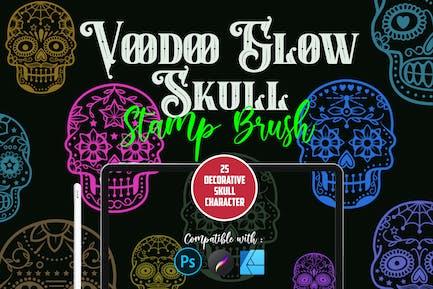 Voodoo Glow Skull   Stamp brush