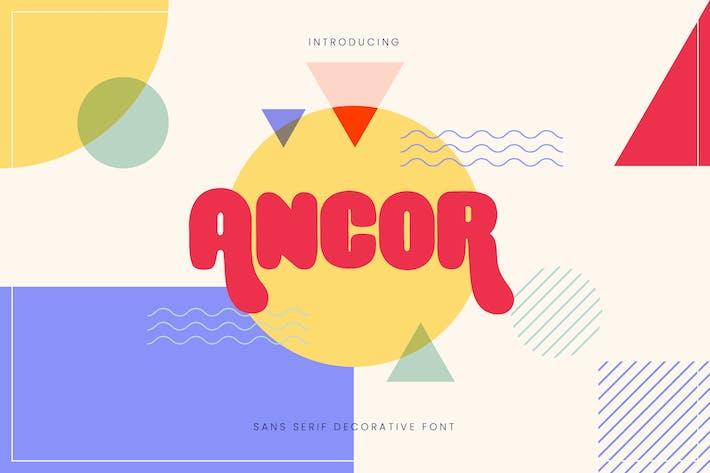 Thumbnail for Ancor - Bold Fun Sans Serif Font