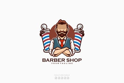 Barber Shop Beard Man