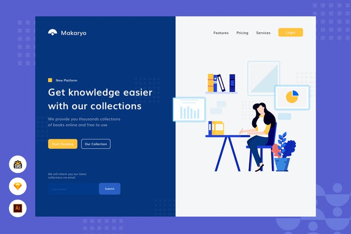 Thumbnail for Erhalten Sie Wissen einfacher - Website Header