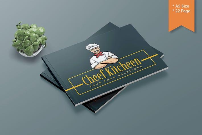 CHEEF KITCHEEN- A5 Lanscape Template