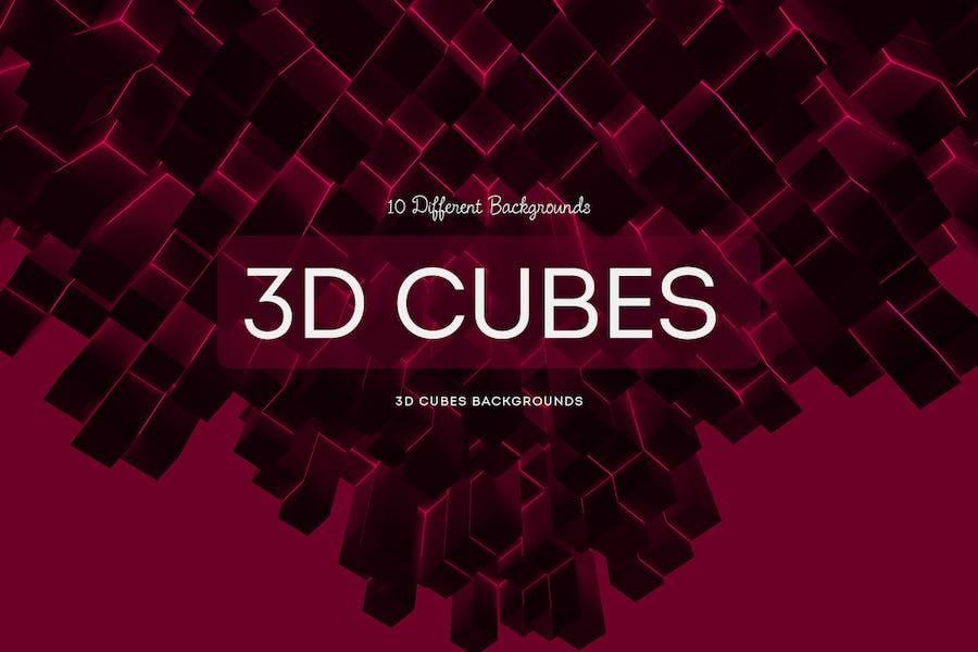 3D Würfel Hintergründe
