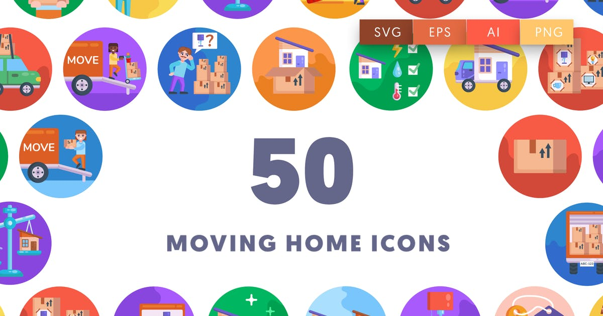 Download Moving Home Icons by thedighital