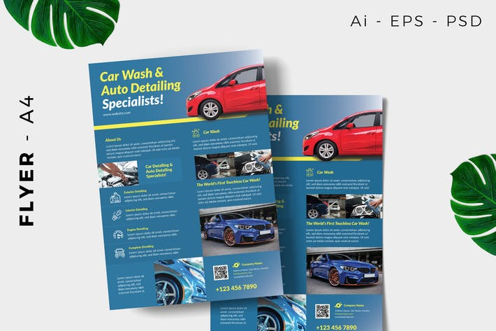 Thumbnail for Car Detailing Flyer Design