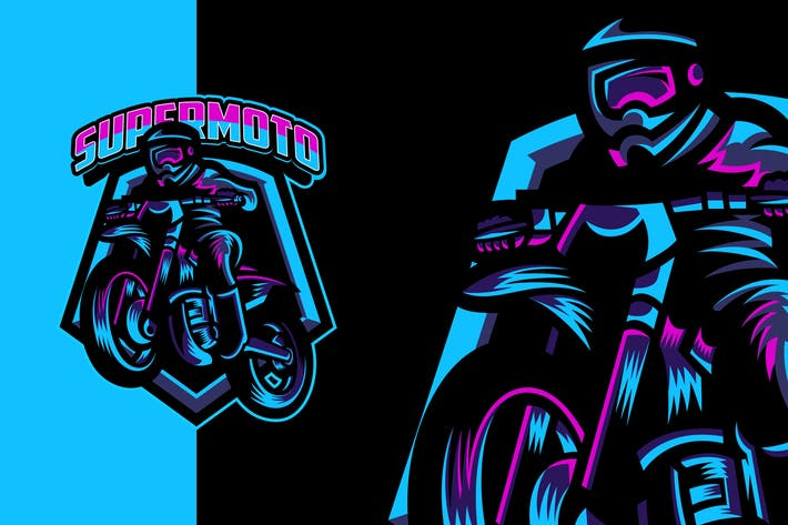 Awesome Motorcycle Modern Logo Template