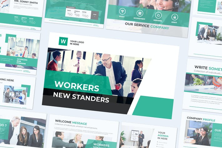 WORKERS - Powerpoint Template