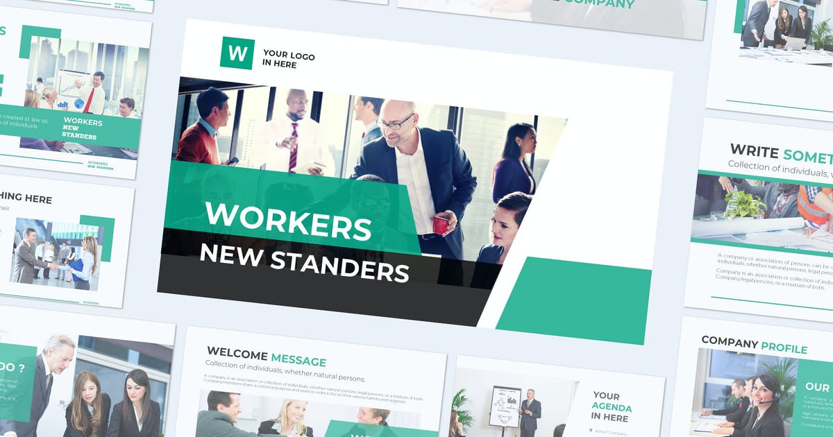 Download WORKERS - Powerpoint Template by indotitas