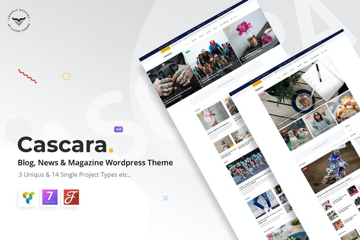 Thumbnail for Cascara - Blog, Noticias y Revista WordPress Tema