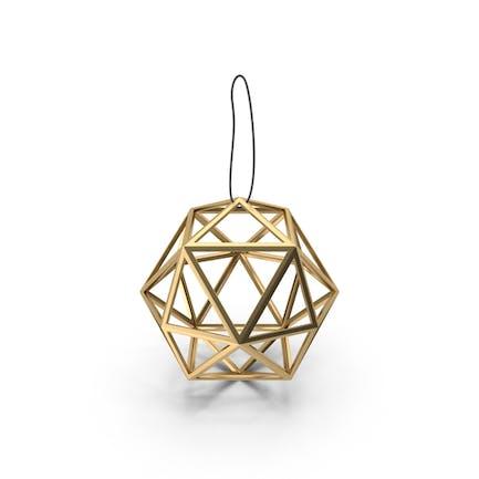 Decoración geométrica de bolas de oro.