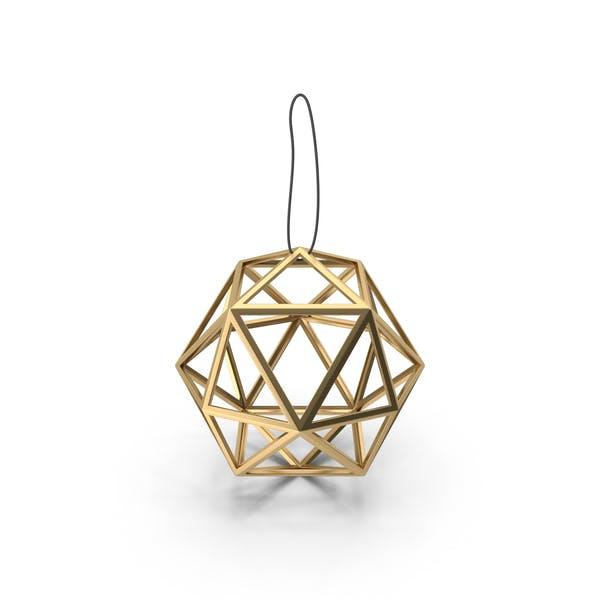 Геометрический золотой шар украшения