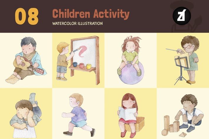 Thumbnail for 8 Student activity - watercolor illustration