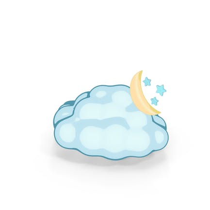 Weather Forecast Cartoon Night Partly Cloudy