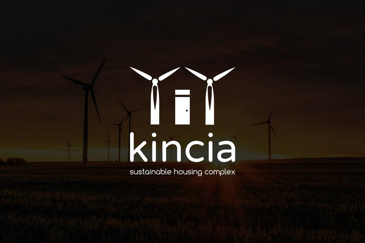 Thumbnail for Kincia: Negative Space Green Energy Logo