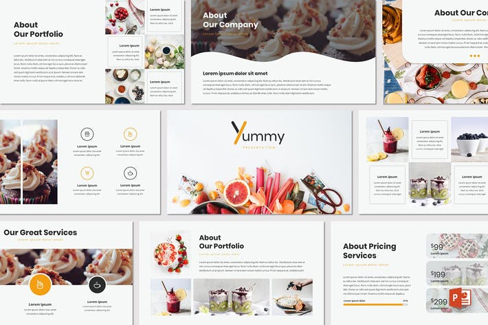 Cover Image For Yummy - Powerpoint Template