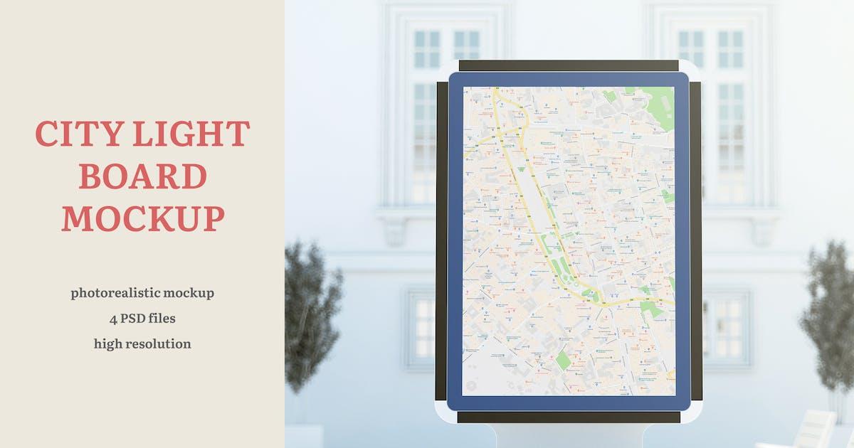 Download City Light Board Mockup by professorinc