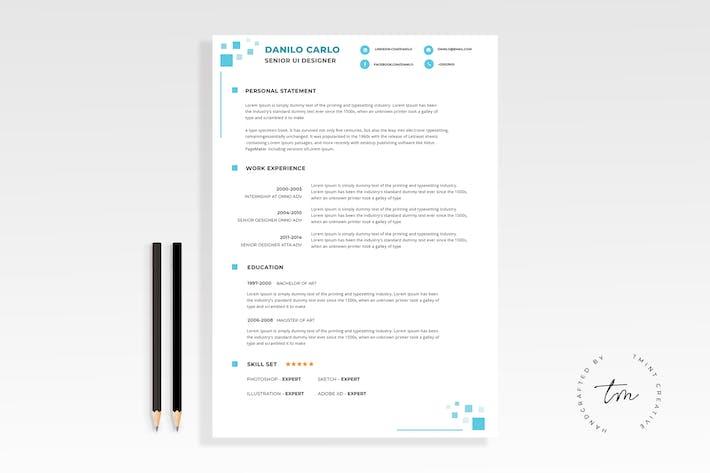 creative resume cv template by eightonesixstudios on envato elements